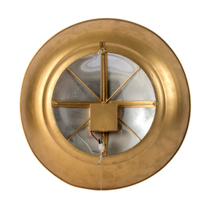 Led Light Golden Button Wall Mirror - decorstore