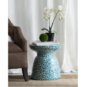 Shell inlay side table/Stool - decorstore