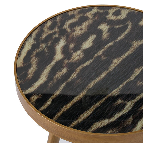 ANIMAL PRINT TRIPOD SIDE TABLE - decorstore