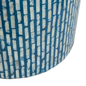 Shell Stool Aqua - decorstore