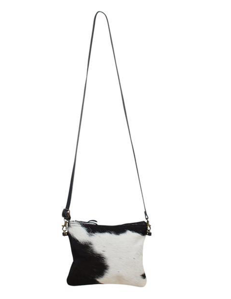 SMALL SQUARE COWHIDE STRAP HANDBAG - decorstore