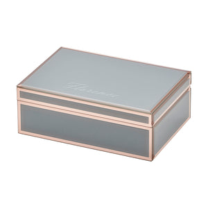 Layla Grey / Rose Gold Large Jewellery Box - decorstore