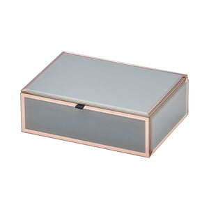 Layla Grey / Rose Gold Medium Jewellery Box - decorstore