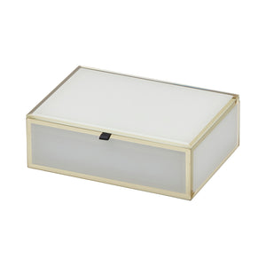 Layla White Medium Jewellery Box - decorstore