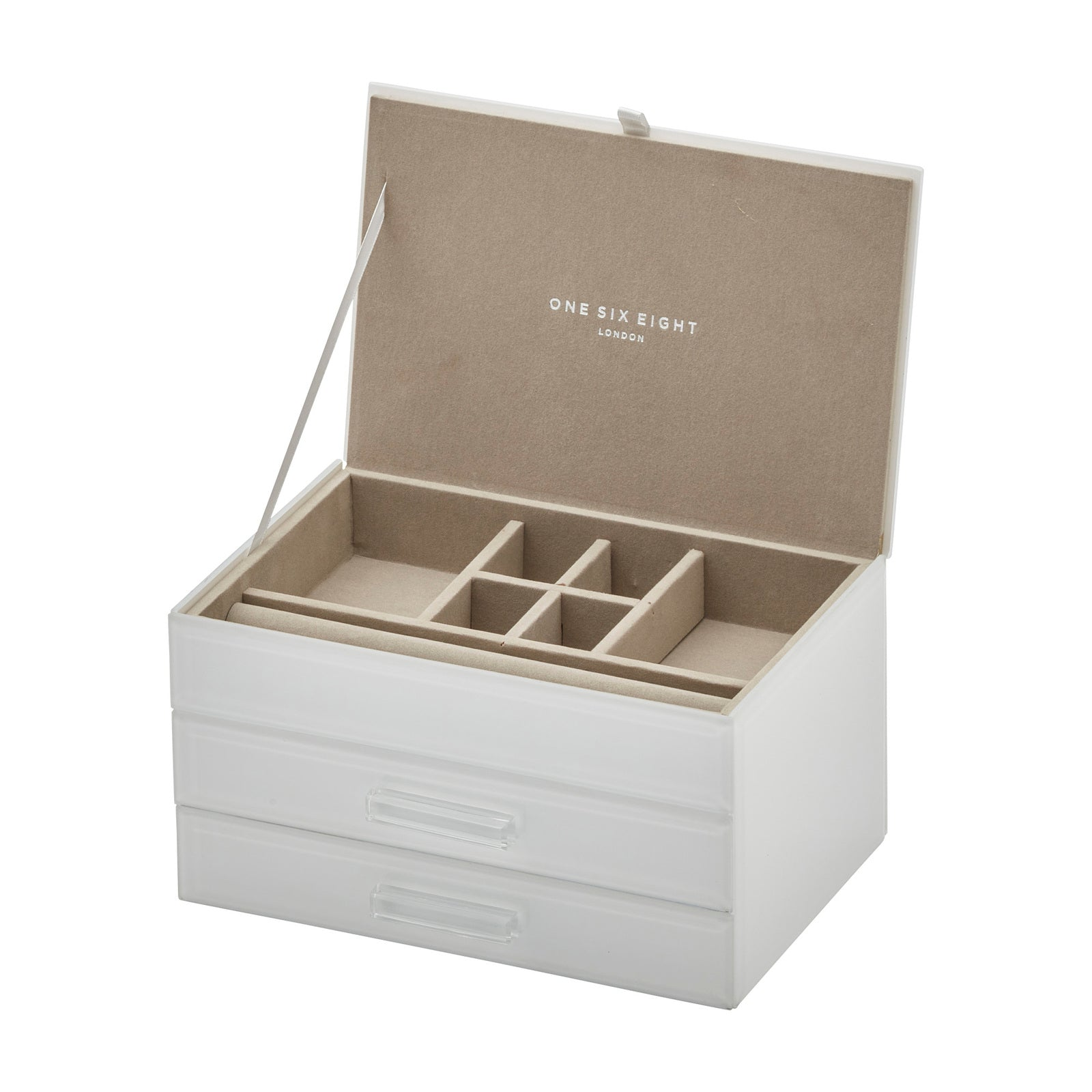 Cynthia White Medium Jewellery Box - decorstore