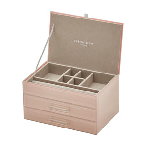 Cynthia Blush Medium Jewellery Box - decorstore