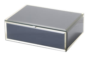Ayla Grey Medium Jewellery Box - decorstore
