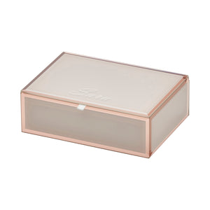 Ayla Blush Medium Jewellery Box - decorstore