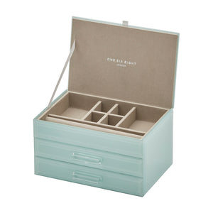 Cynthia Mint Medium Jewellery Box - decorstore