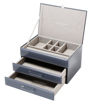 Cynthia Grey Medium Jewellery Box - decorstore
