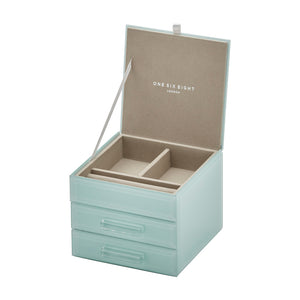 Cynthia Mint Small Jewellery Box - decorstore