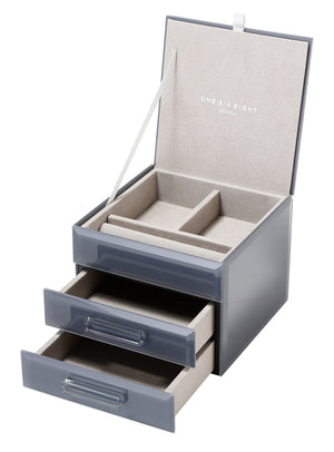Cynthia Grey Small Jewellery Box - decorstore