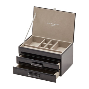 Cynthia Black Medium Jewellery Box - decorstore