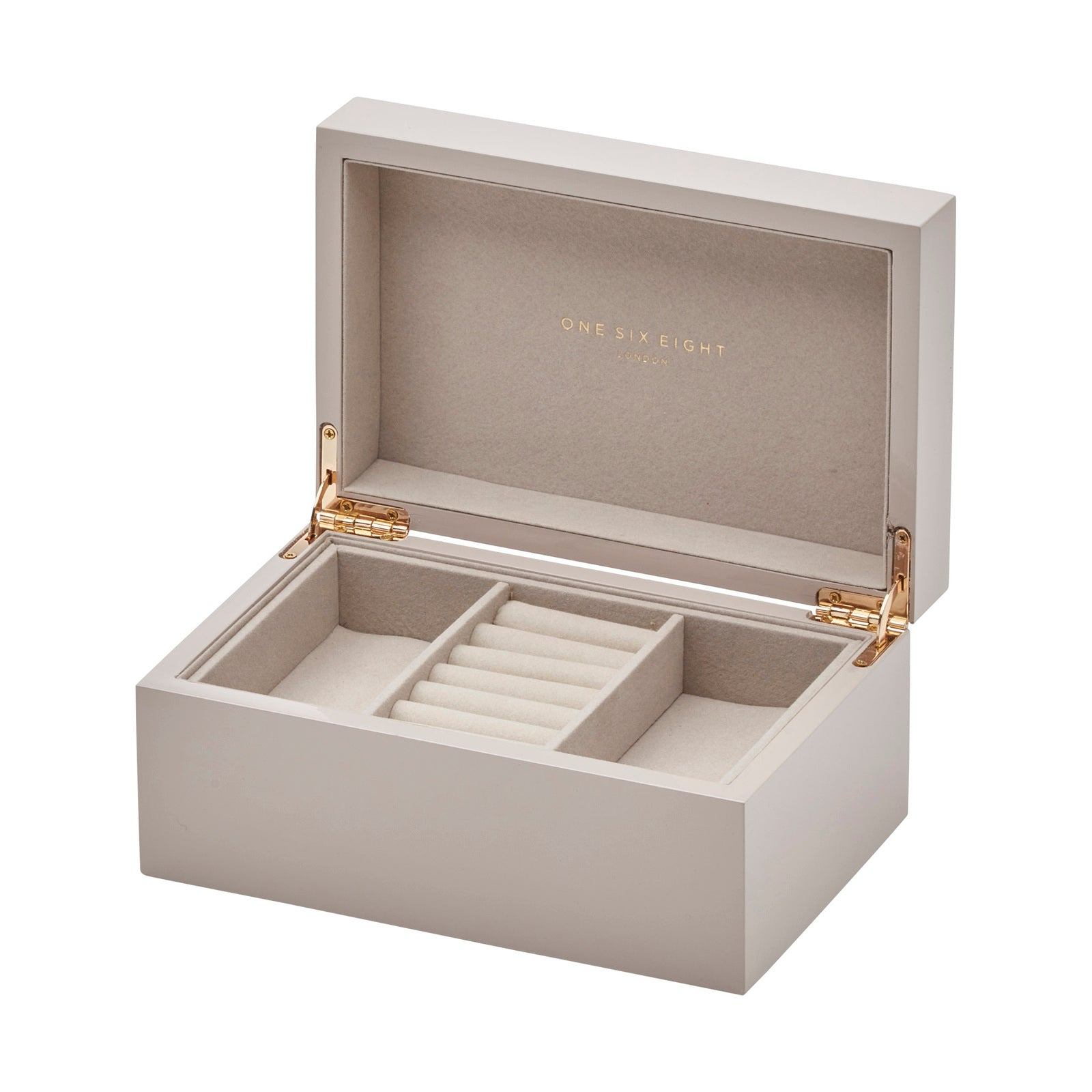 Jolene Grey Lacquered Jewellery Box - decorstore
