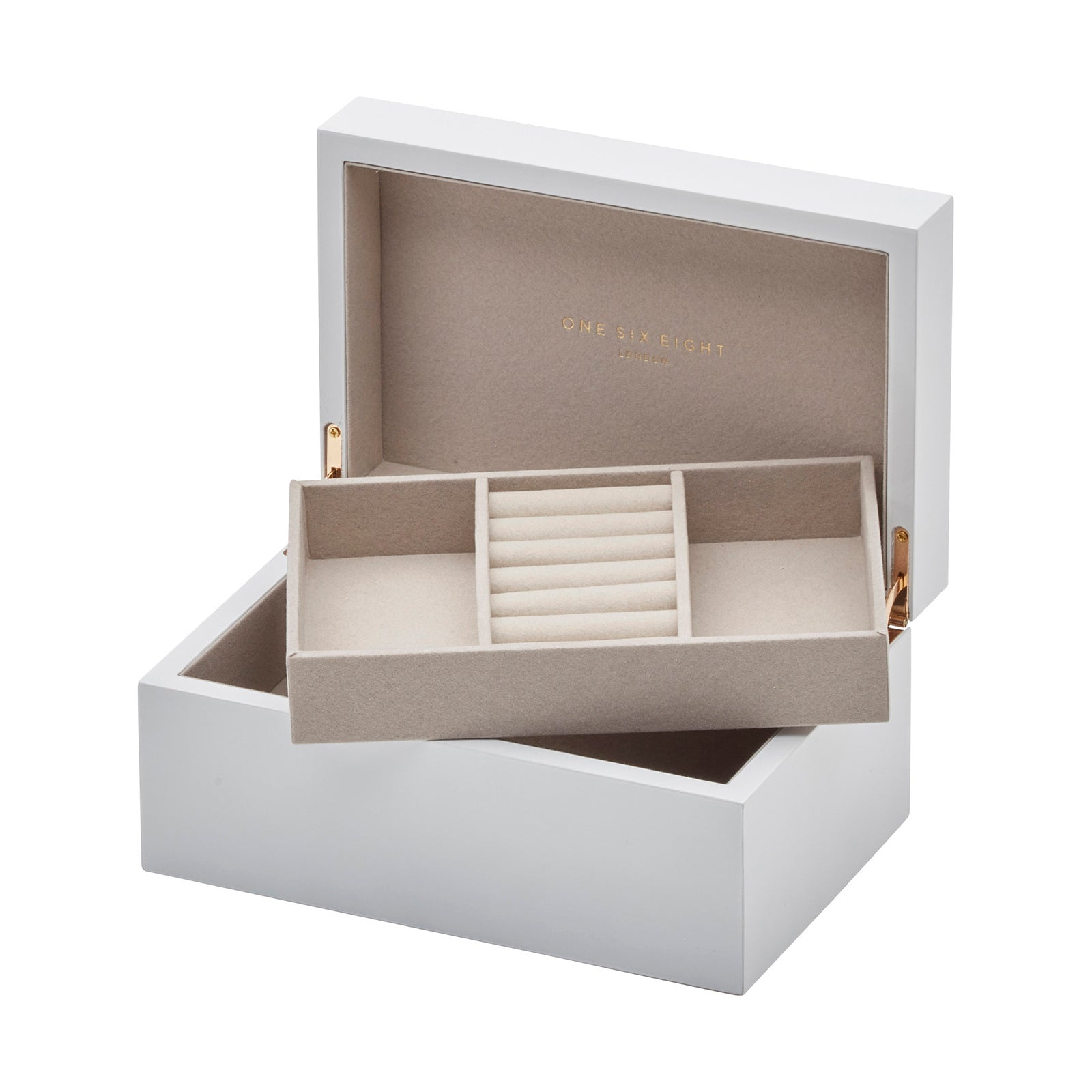 Jolene White Lacquered Jewellery Box - decorstore