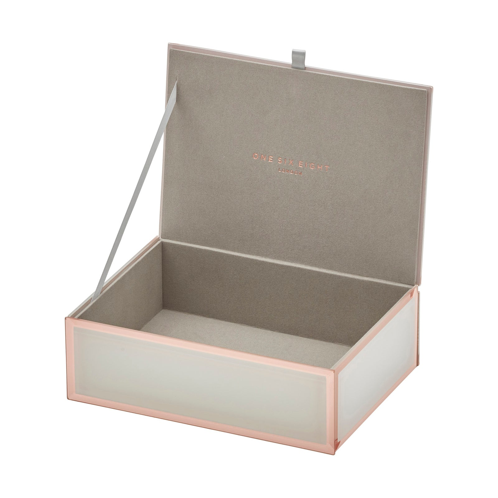 Ayla White / Rose Gold Medium Jewellery Box - decorstore