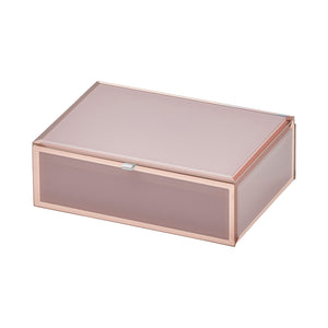 Ayla Dusty Rose Medium Jewellery Box - decorstore