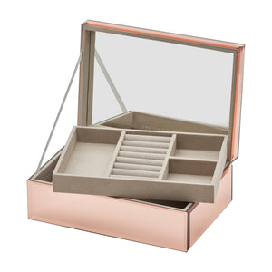 Ayla Rose Gold Large Jewellery Box - decorstore