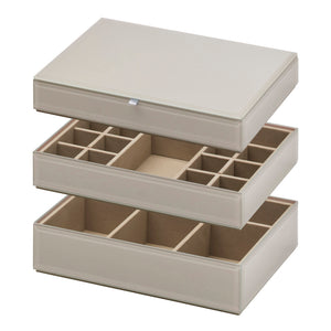 Stackable Jewllery Box With Lid - Grey - decorstore