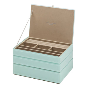 Stackable Jewllery Box With Lid - Mint - decorstore