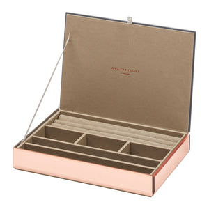 Stackable Jewllery Box With Lid - Rose Gold - decorstore
