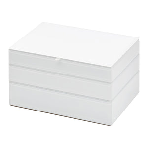 Stackable Jewllery Box With Lid - White - decorstore