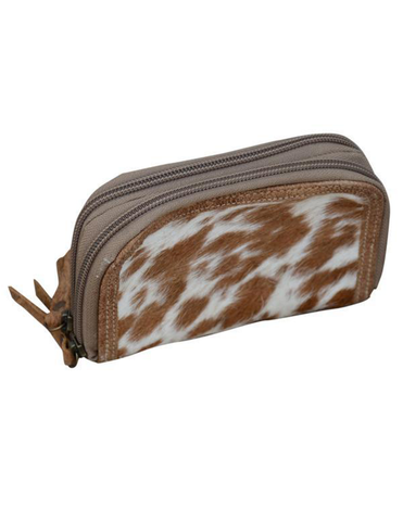 Caramel Cowhide Zip Purse - decorstore