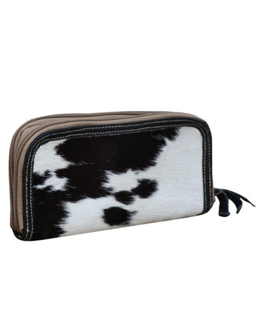 Black Cowhide Zip Purse - decorstore