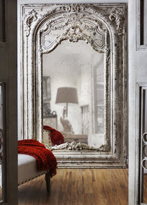 LARGE SHABBY CHIC WALL MIRROR - decorstore