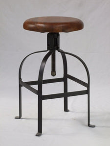 Mango Timber Top Industrial Barstool-Rusty - decorstore