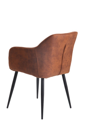 Cicero Arm Chair Chamois Copper - decorstore