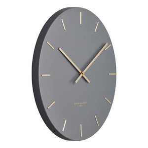 Luca Charcoal 60Cm Silent Wall Clock - decorstore