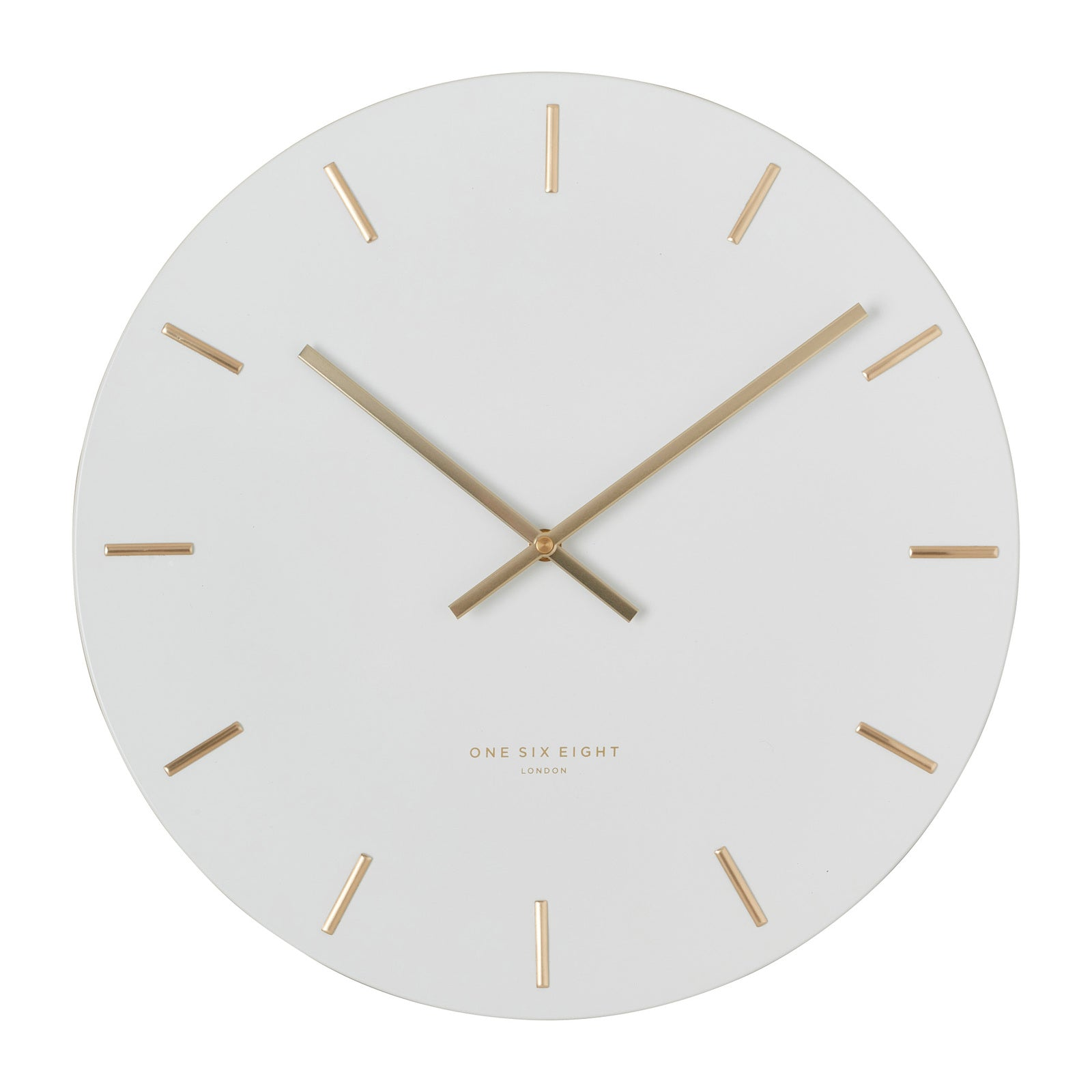 Luca White 60Cm Silent Wall Clock - decorstore