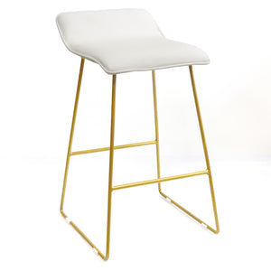 Incurve kitchen bench height stool White - decorstore