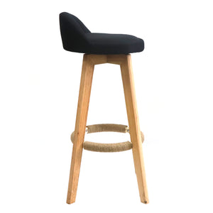 Snug kitchen bench height stool Black - decorstore