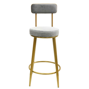Late Night Tipple kitchen bench height stool Grey - decorstore