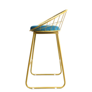 Gold Basket kitchen bench height stool - decorstore