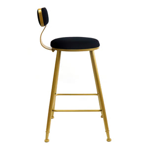 Bold Gold kitchen bench height stool Black - decorstore