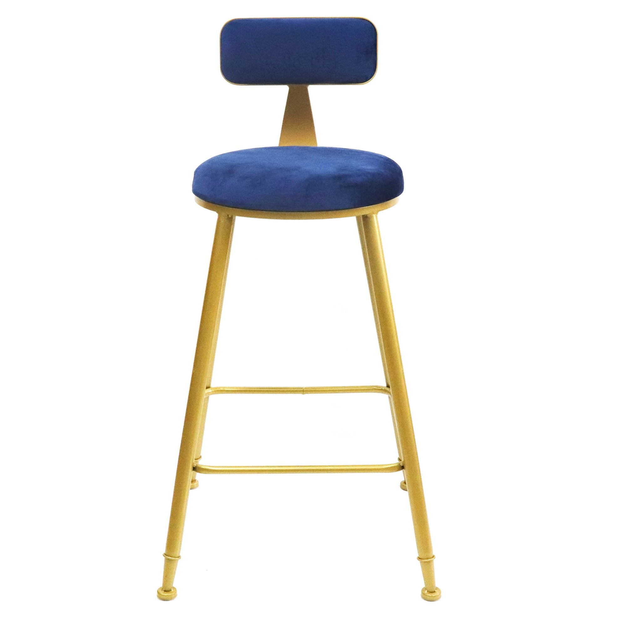 Bold Gold kitchen bench height stool Blue - decorstore