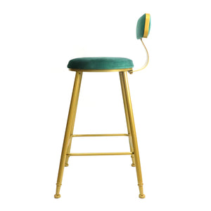 Bold Gold kitchen bench height stool - decorstore