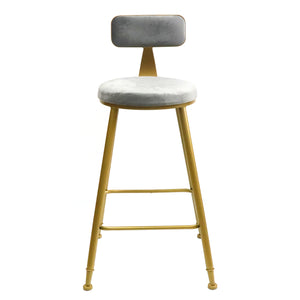 Bold Gold kitchen bench height stool Grey - decorstore