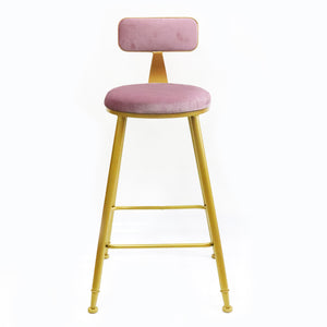 Bold Gold kitchen bench height stool Pink - decorstore