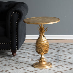 Metallic Pineapple Stem Side Table - decorstore