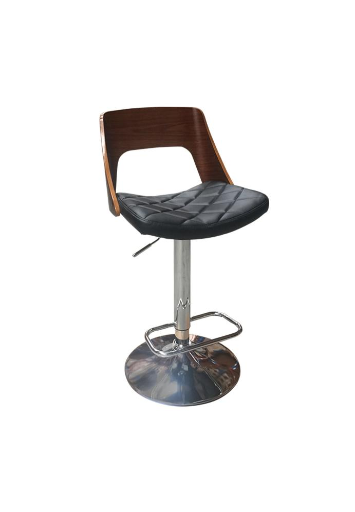 CURVED GAS LIFT BAR STOOL - decorstore