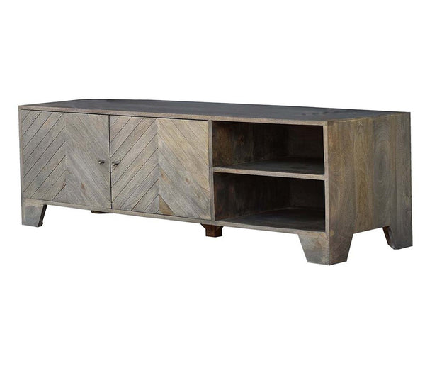 The Caret Hardwood Entertainment Unit - decorstore