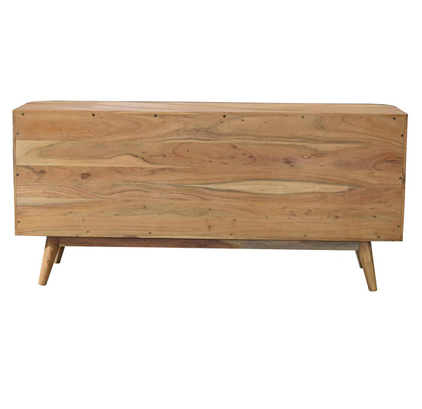 Rounded Handcrafted Hardwood Sideboard