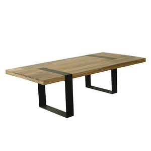 Iron Hand Crafted Hardwood Coffee Table - decorstore