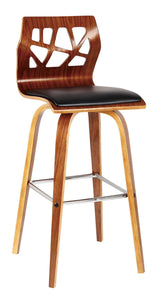 CUT OUT WALNUT BAR CHAIR - decorstore