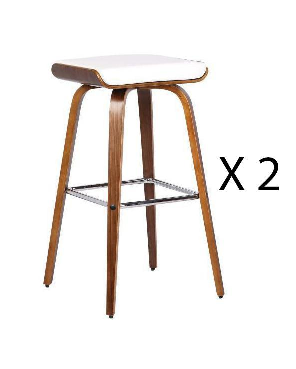 White Chalkboard Bar Stool Set Of 2 - decorstore