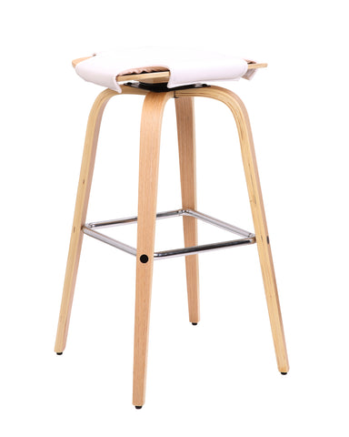White Quadrant Bar Chair - decorstore